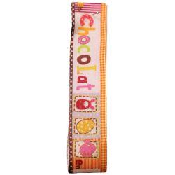 Easter Chocolat Ribbon (Col 1437) 25m x 20m - Orange