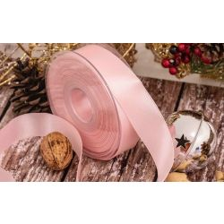 25mm pink double satin ribbon