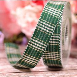 Rustic Plaid Ribbon In Green