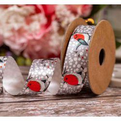 25mm x 4m Robin Ribbon By Berisfords Ribbons