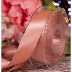 25mm x 20m Rose Gold Berisfords Double Satin Ribbon