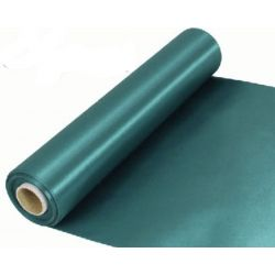29cm Wide Green Cut Edged Satin Fabric