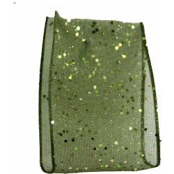 Random Glitter Sheer Ribbon Col: Cypress 980