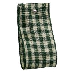 Natural Gingham 10mm x 15m Col: Green