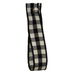 Natural Gingham 10mm x 5m Col:Black