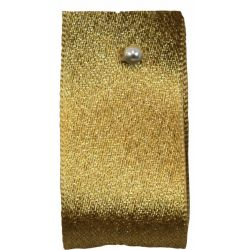 Glitter Satin Ribbon Col: Honey Gold - available in 15mm & 25mm widths