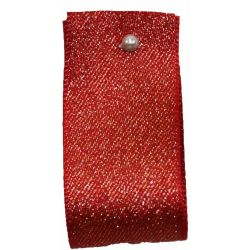 Glitter Satin Ribbon Col: Red - available in 15mm & 25mm widths