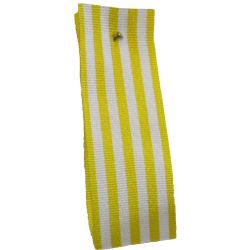 9mm x 25m Stripe Ribbon By Berisfords Ribbons Col: Yellow