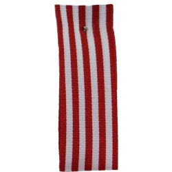 9mm x 25m Stripe Ribbon By Berisfords Ribbons Col: Red