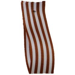 9mm x 25m Stripe Ribbon By Berisfords Ribbons Col: Rust