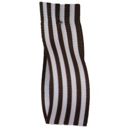 9mm x 25m Stripe Ribbon By Berisfords Ribbons Col: Brown