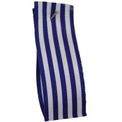 9mm x 25m Stripe Ribbon By Berisfords Ribbons Col:Royal Blue