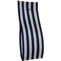 9mm x 25m Stripe Ribbon By Berisfords Ribbons Col:Navy