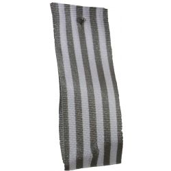 9mm x 25m Stripe Ribbon By Berisfords Ribbons Col:Grey