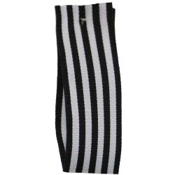 9mm x 25m Stripe Ribbon By Berisfords Ribbons Col: Black
