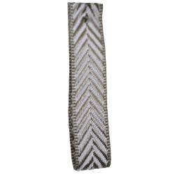 Grey16mm Herringbone Ribbon Article 1392