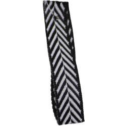 Black 16mm Herringbone Ribbon Article 1392