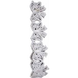 20mm White Cross Over Bow Design Lace