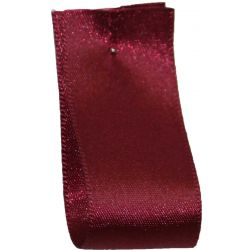 Double Satin Ribbon By Berisfords Ribbons: Burgundy (Col 405) - 3mm - 70mm widths