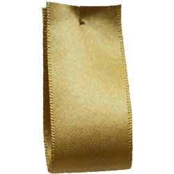 Newlife Double Satin Ribbon 100% Recycled Plastic: Honey Gold (Col 678) - 3mm - 70mm widths