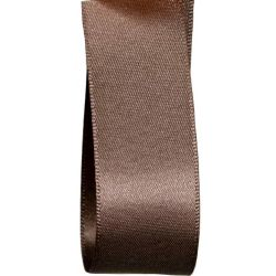 Double Satin Ribbon In Taupe