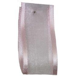 Sheer Elegance Ribbon Col: Pink 25mm x 25m Article 9902