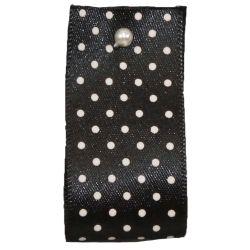 25mm Micro Dot Ribbon Article 5932 Col: Black