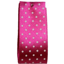 25mm Micro Dot Ribbon Article 5932 Col: Shocking Pink