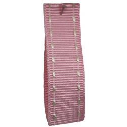 Stitched Grosgrain Ribbon Article 1339 Col: Pink 15mm