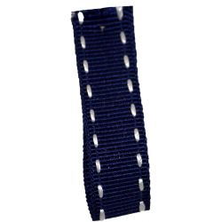Stitched Grosgrain Ribbon Article 1339 Col: Navy 15mm