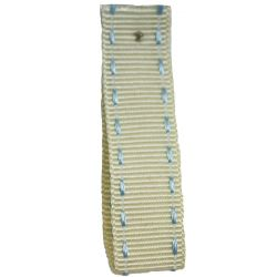 Stitched Grosgrain Ribbon Article 1339 Col: Ivory / Sky 15mm