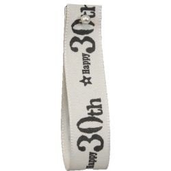 30th Birthday Ribbon 15mm x 4m