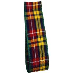 BULK 100M REEL Buchanan Tartan Ribbon - available in varying widths from 7mm to 70mm