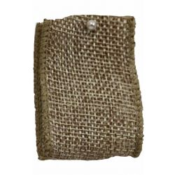 Woven Hessian Ribbon With Wired Edging 38mm x 10m Col: Natural