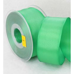 38mm x 20m Wired Taffeta Ribbon In Green