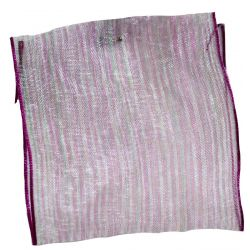 63mm x 10m Mauve Sheer Ribbon With Pin Stripes