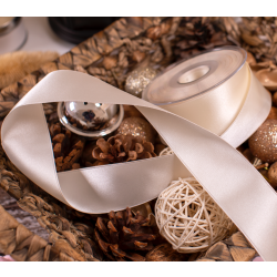 40mm Bridal White Double Satin Ribbon
