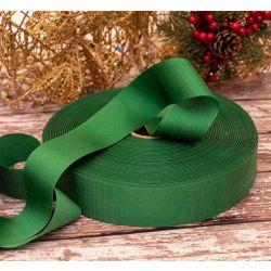 40mm Christmas Green Grosgrain Ribbon