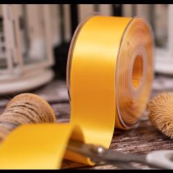 40mm yellow double satin ribbon x 20m