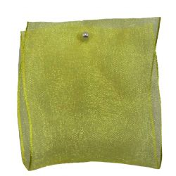 Wired Edged Sheer Ribbon 63mm x 25m Col: Yellow 679