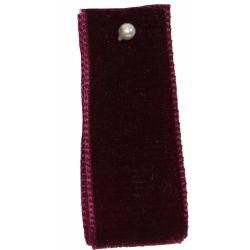 Velvet Ribbon By Berisfords Burgundy 9434 - available in 9mm - 50mm widths