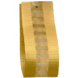 Ladder Grosgrain Ribbon in Honey Gold - available in 15mm & 25mm widths