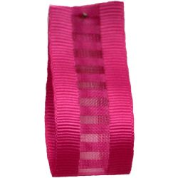Ladder Grosgrain Ribbon in Fuchsia - available in 15mm & 25mm widths