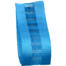 Ladder Grosgrain Ribbon in Peacock - available in 15mm & 25mm widths