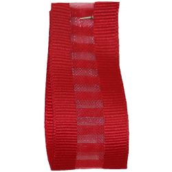 Ladder Grosgrain Ribbon in Red - available in 15mm & 25mm widths