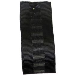 Ladder Grosgrain Ribbon in Black - available in 15mm & 25mm widths