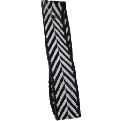 Black 10mm Herringbone Ribbon Article 1392
