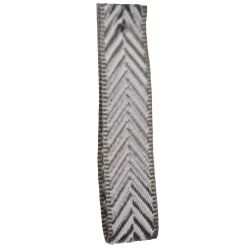 Grey 10mm Herringbone Ribbon Article 1392