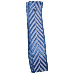 Sapphire 25mm Herringbone Ribbon Article 1392