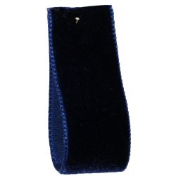 Velvet Ribbon By Berisfords Col: Navy 9419 - available in 9mm - 50mm widths